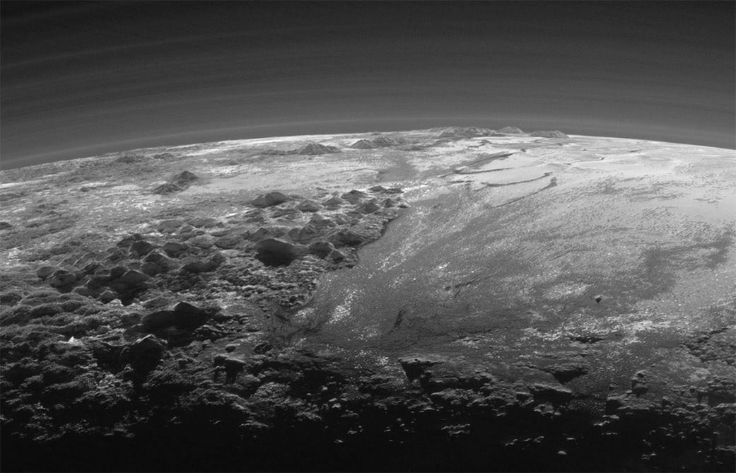 Plutón, a vista de pájaro