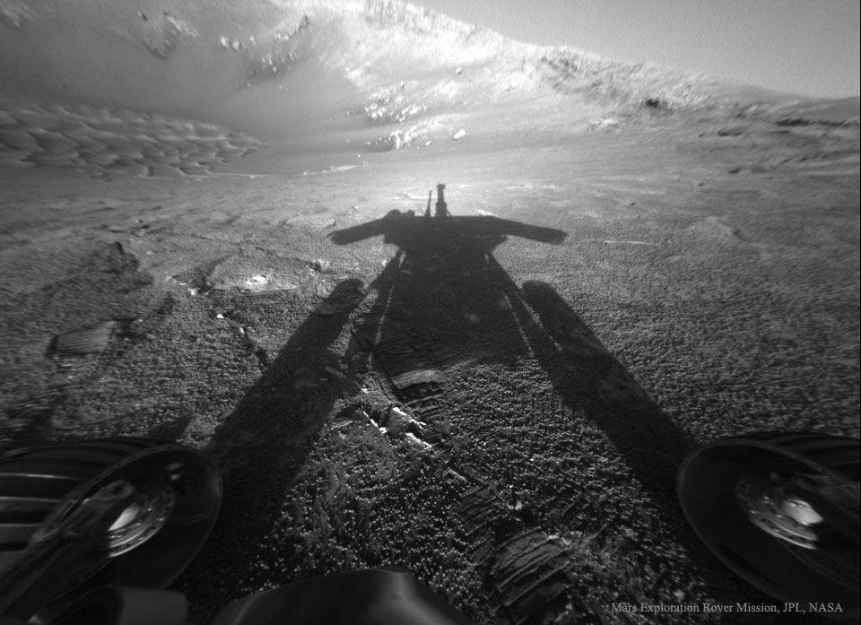 La Sombra de un robot marciano