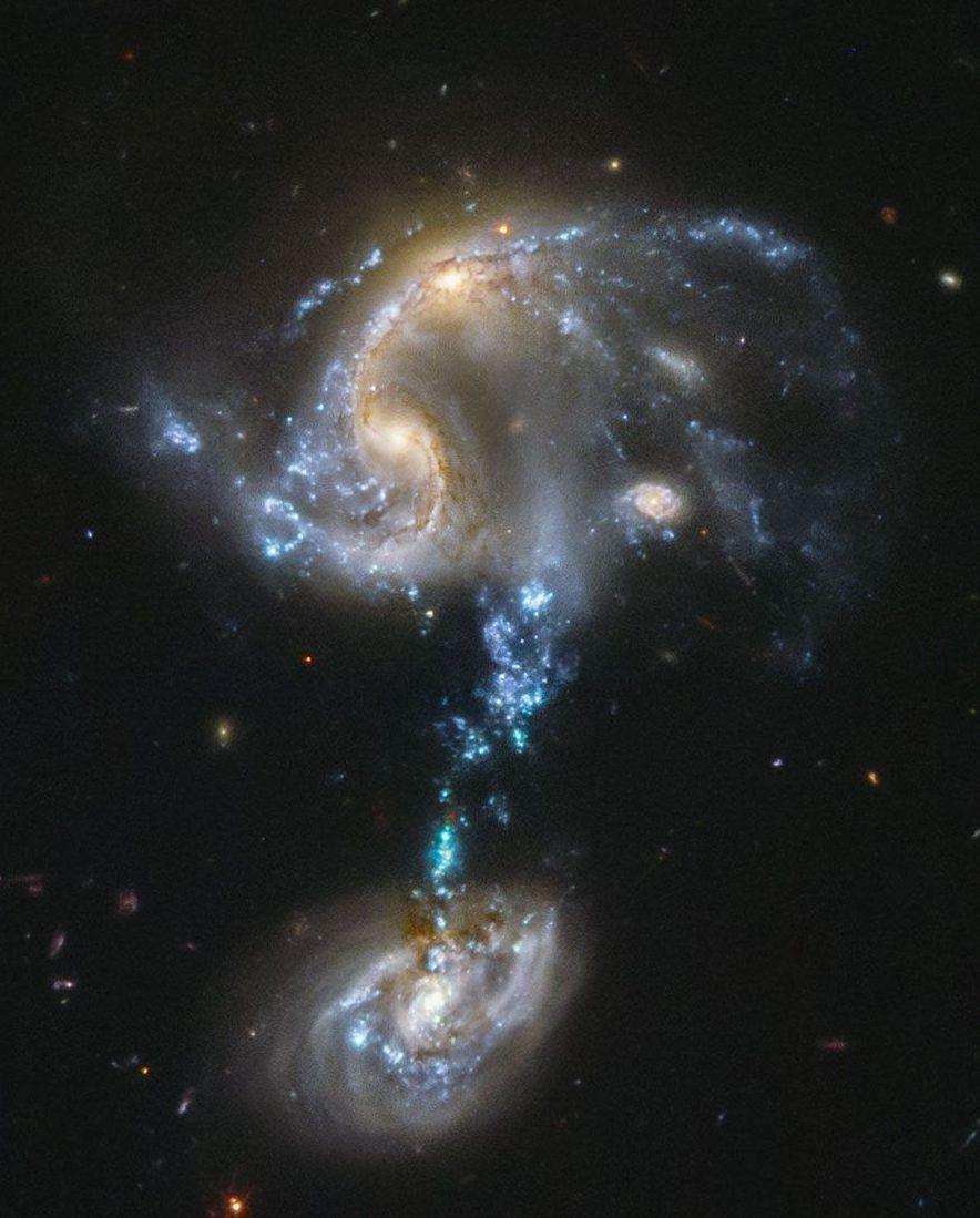Arp 194 fusionando galaxias