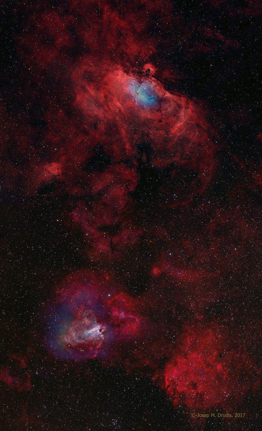Nebulosa del Águila y Cisne