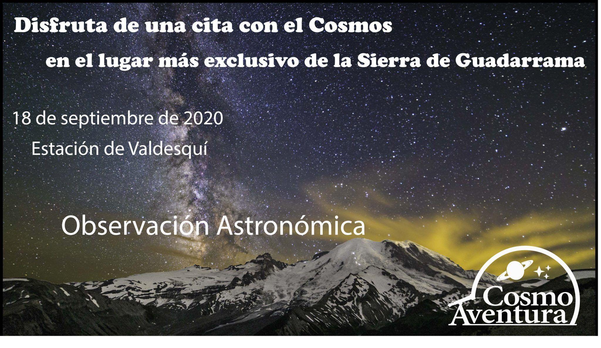 (COMPLETO) 18-09-2020.- Observación Astronómica en el lugar más exclusivo de Madrid: La Estación de Valdesquí