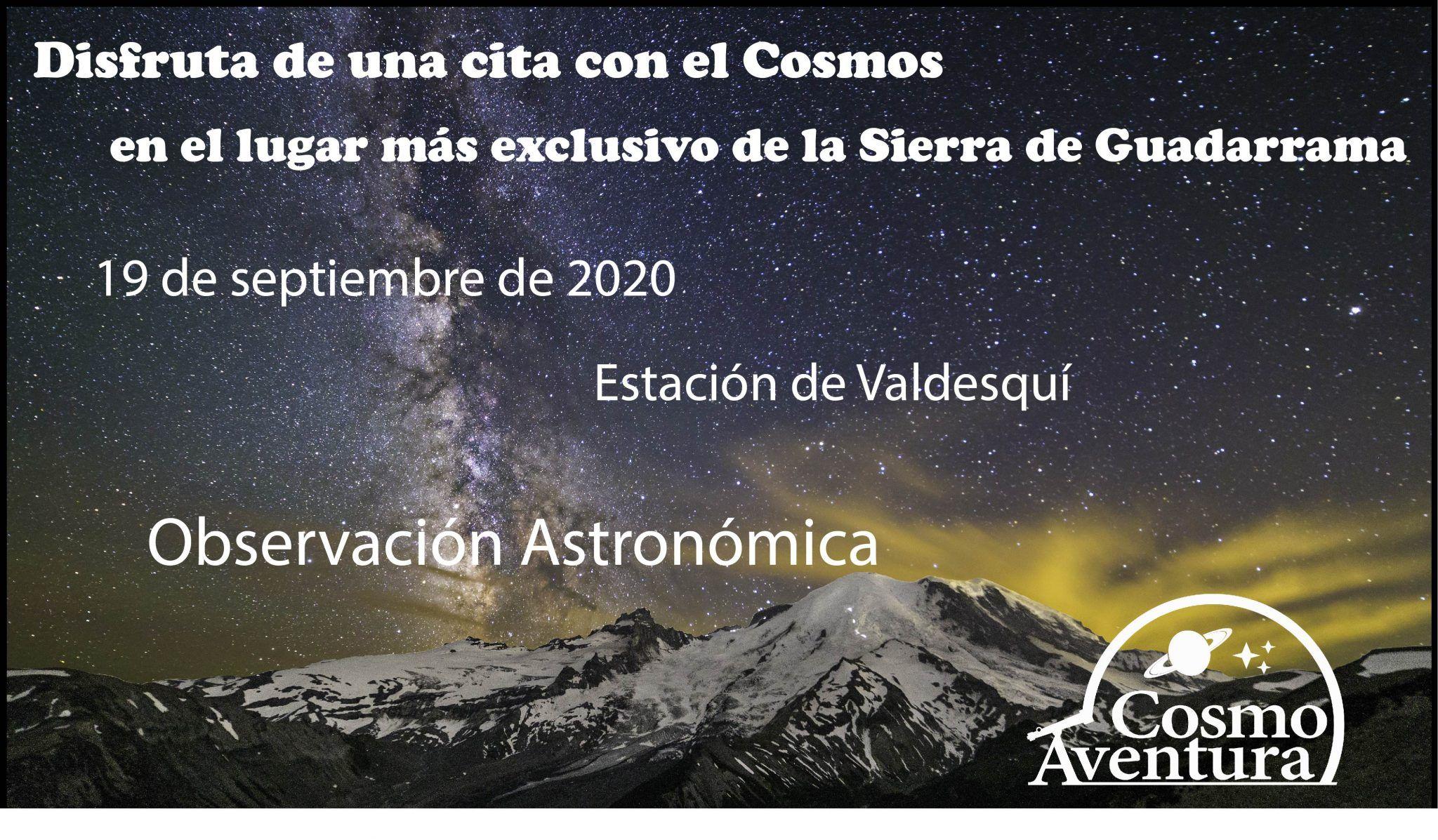 (COMPLETO) 19-09-2020.- Observación Astronómica en el lugar más exclusivo de Madrid: La Estación de Valdesquí