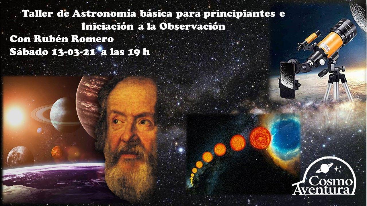 Taller Online de Iniciación a la Astronomía y a la Observación Astronómica