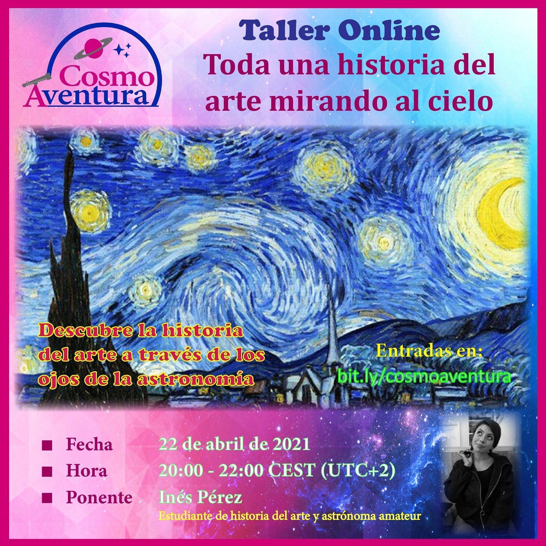 22-04-2021.- Taller Online: Toda una historia del arte mirando al cielo