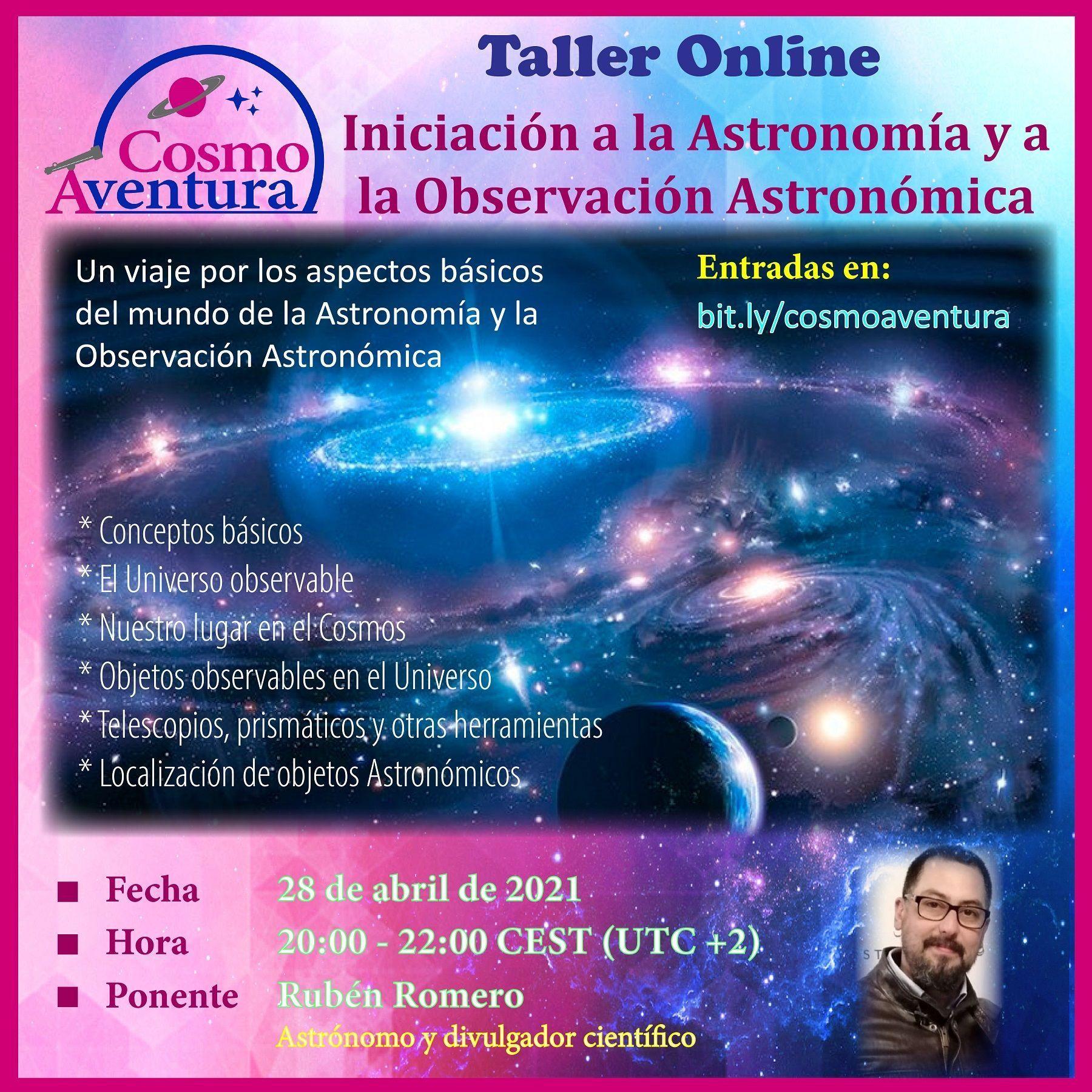28-04-2021.- Taller Online: Iniciación a la Astronomía y a la Observación Astronómica