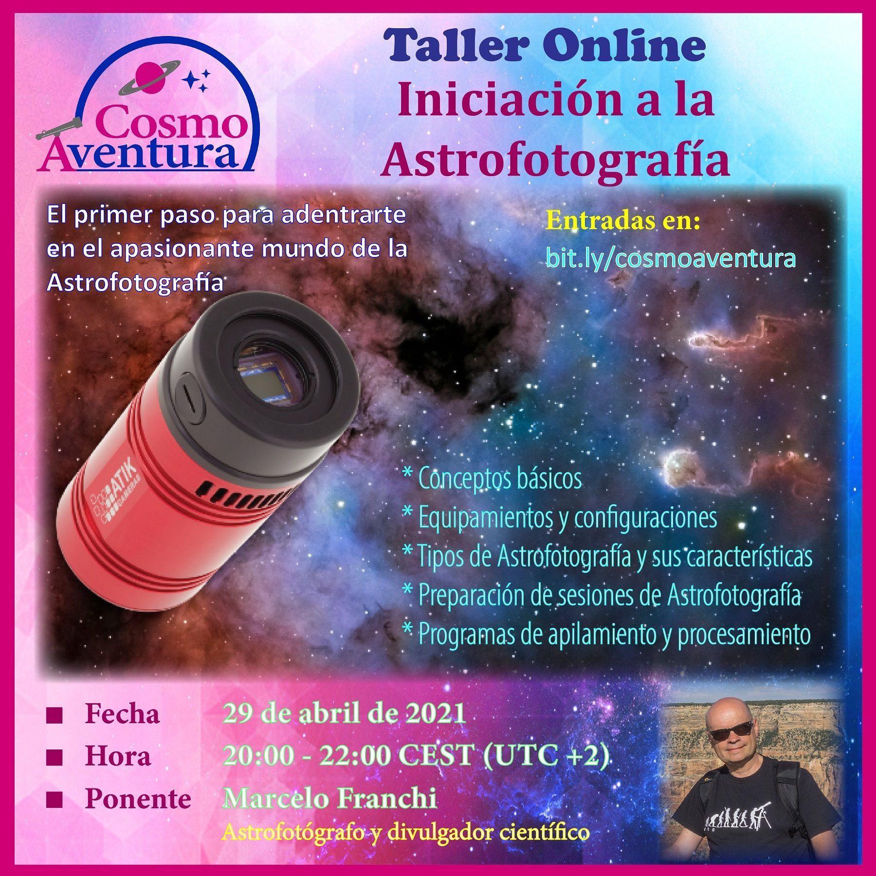 29-04-2021 – Taller Online: Iniciación a la Astrofotografía