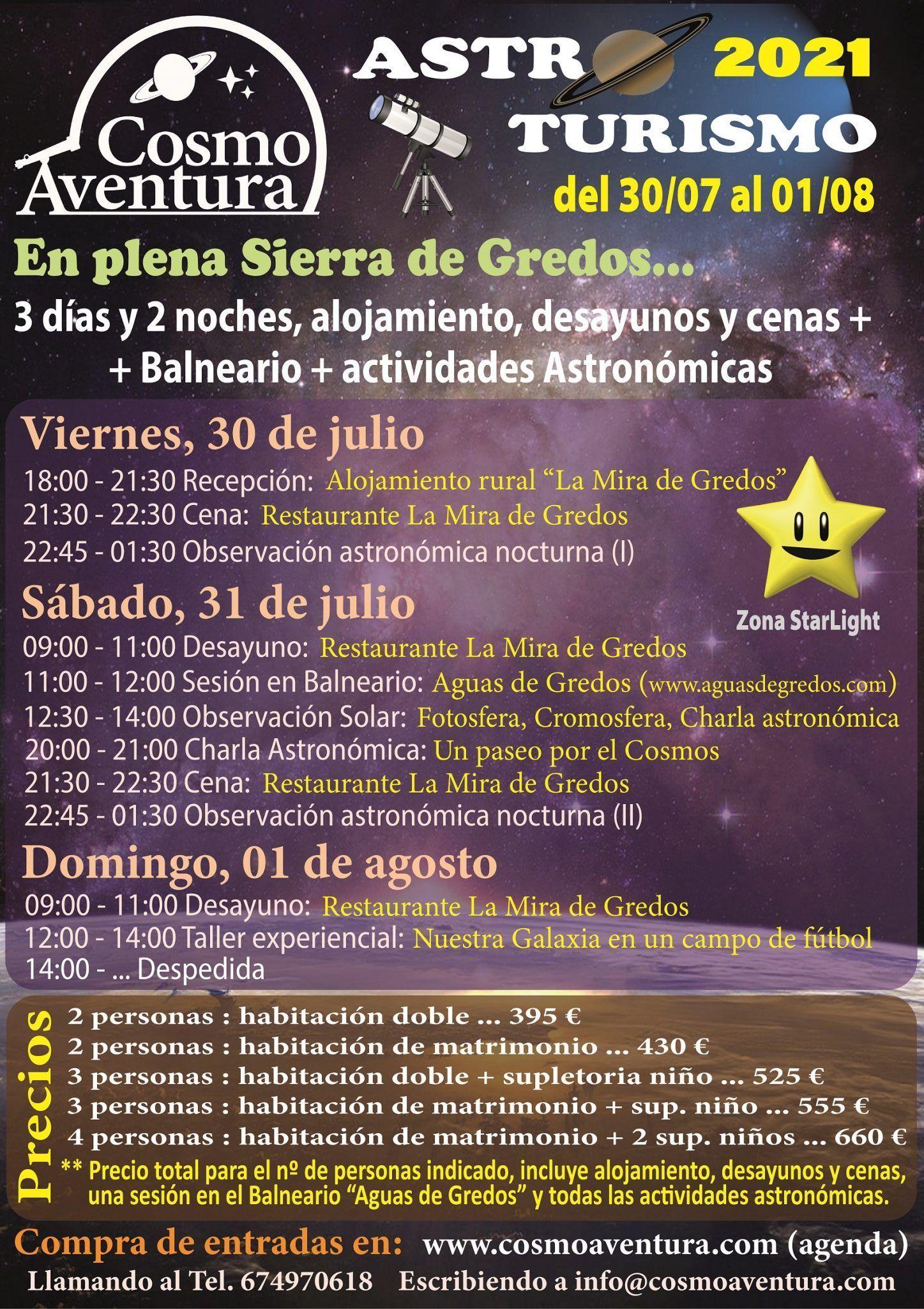(AGOTADO) 30/07, 31/07 y 01/08: Jornadas de AstroTurismo en plena Sierra de Gredos