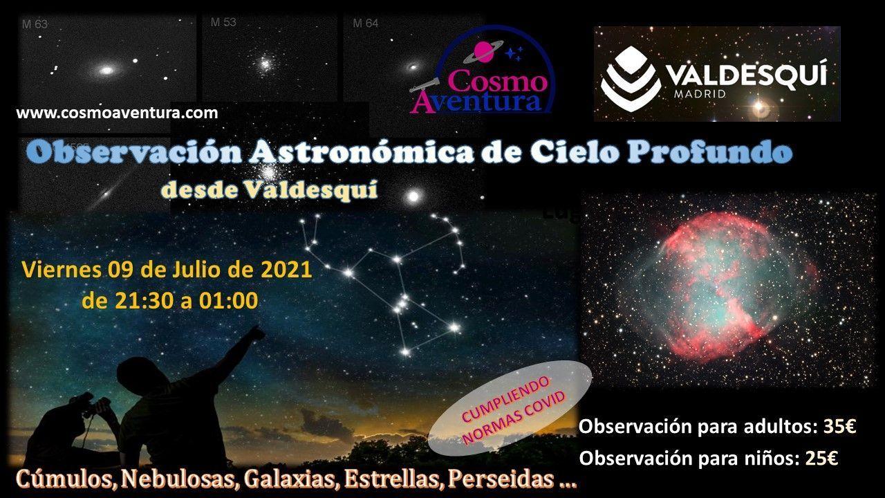 09-07-2021.- Observación Astronómica en el lugar más exclusivo de Madrid: La Estación de Valdesquí