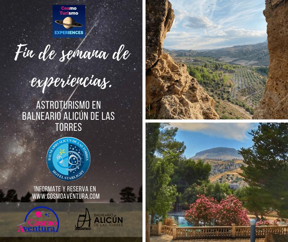 (AGOTADO) Jornadas de ASTROTURISMO y EXPERIENCIAS en el Balneario de ALICÚN DE LAS TORRES (Con Certificación StartLight)