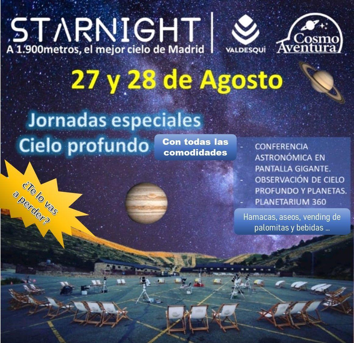 (CANCELADO POR CLIMATOLOGIA) 28-08-2021.- Observación Astronómica en el lugar más exclusivo de Madrid: La Estación de Valdesquí