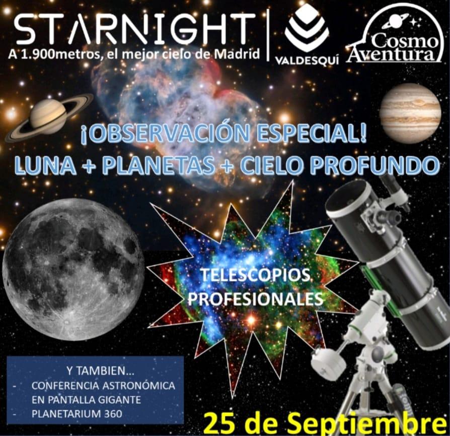 (CANCELADO POR METEOROLOGÍA) 25 de Septiembre: Jornadas Astronómicas en la Estación de Valdesquí